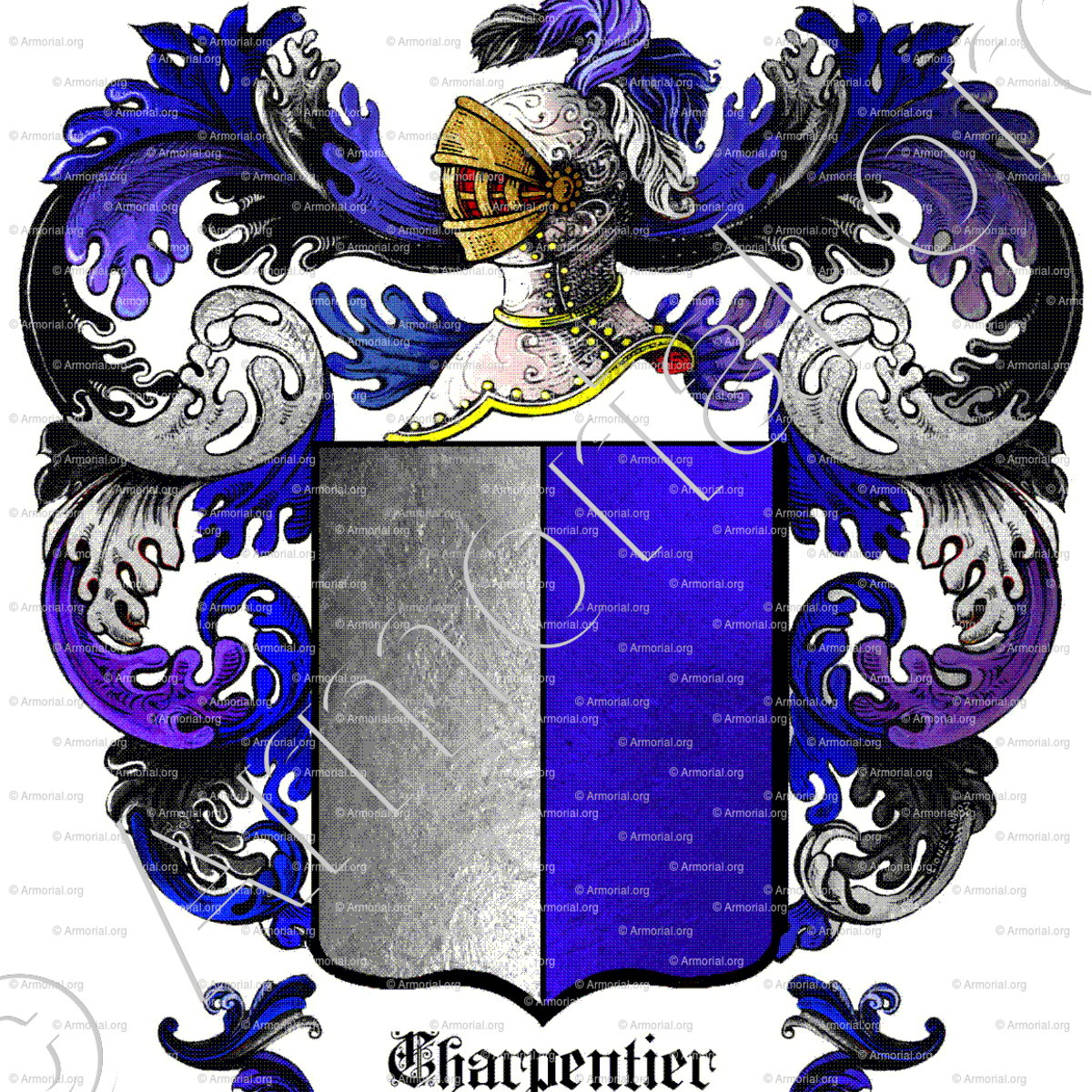 charpentier armoiries blason etymologie et origine nom de famille genealogie anc tres. Black Bedroom Furniture Sets. Home Design Ideas
