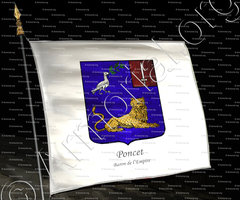 drapeau-PONCET_Baron de l'Empire_France