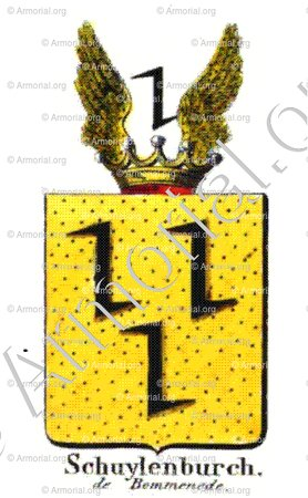 SCHUYLENBURCH DE BOMMENEDE_Armorial royal des Pays-Bas_Europe
